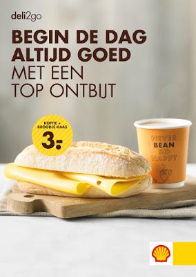 ontbijt koud koffie broodje kaas drank food eten shell deli2go